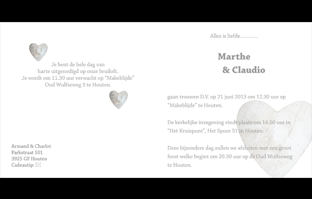 tekst uitnodiging huwelijk